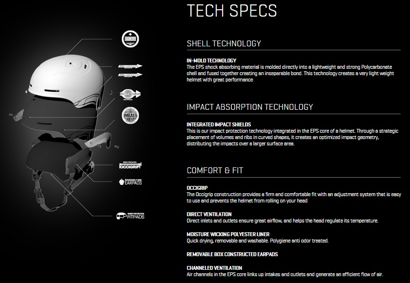 Sweet Winter Helmet Tech Specs